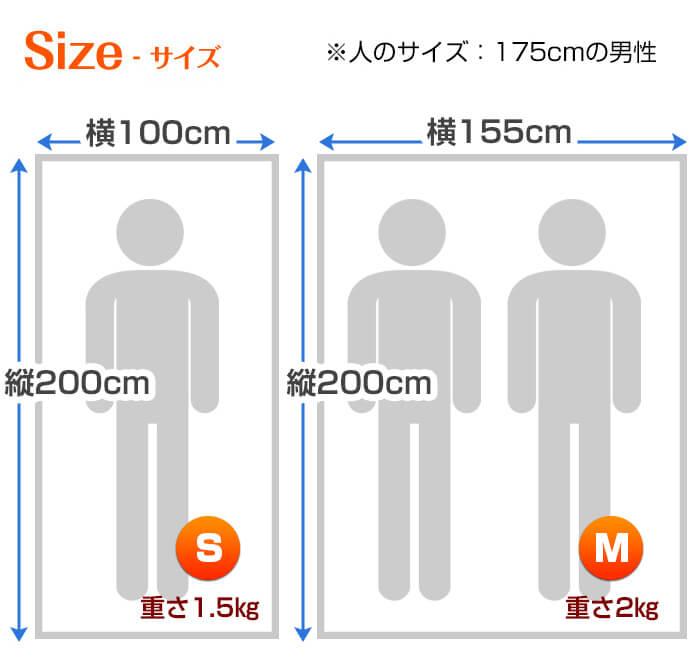 ビーチのサイズ寸法1
